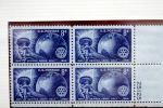 Service Above Self, 1905 - 1955, Hand, torch, globe, earth, Eight Cent Stamp, GCPV01P07_13