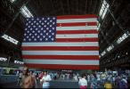 Star Spangled Banner, Moffett Field Airship Hangar, Old Glory, USA, United States of America, GFLV01P01_15
