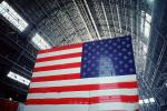 Moffett Field Airship Hangar, Old Glory, USA, United States of America, Star Spangled Banner, GFLV01P02_03