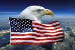 Eagle and Old Glory, Old Glory, USA, United States of America, Star Spangled Banner, GFLV01P09_13