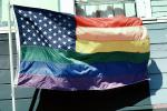 Rainbow Flag, United States of America, American, USA, Fifty State Flags, GFLV01P12_17
