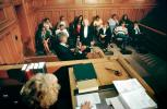 Gavel, judge, jury, Defendant, witness, Juror, People, Trial, Court Session