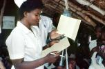 Nurse, Weighing a Toddler, Rushinga Zimbabwe, HOFV01P05_11