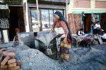 Woman, shops, stores, gravel, Aggergate, mixing cement, ICBV01P01_10
