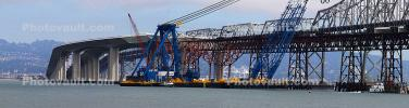 Left Coast Lifter, Giant Floating Crane, Construction of the new Bay Bridge, Panorama