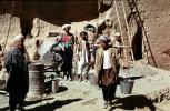 Men, water pails, buckets, Afghanistan, ICDV02P01_04