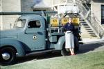 Bell System Telephone Pickup Truck, woman, dress, 1950s