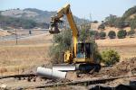 Building the new Rail, Marin County, 2015, Construction for the new SMART train, Highway 101, ICRD01_055