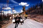 Logging Truck, Crane, clearing out burned trees from the great fire, ICSV01P07_11