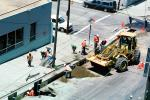 John Deere 544H Wheel Loader, Installing Fiber Optic Cable, Intersection of 17th street and Mississippi streets, Potrero Hill, Earthmoving, Earthmover, ICSV02P10_10