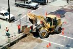 John Deere 544H Wheel Loader, Installing Fiber Optic Cable, Intersection of 17th street and Mississippi streets, Potrero Hill, Earthmoving, Earthmover, ICSV02P10_12