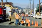 Installing Fiber Optic Cable, Intersection of 17th street and Mississippi streets, Potrero Hill