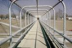 fenced in, pedestrian bridge, infinty, Ocotober 1964