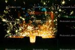 pouring molten metal, ladel, sparks, IHMV02P02_06