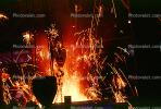pouring molten metal, ladel, sparks, IHMV02P03_01