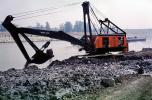 Crane, Huge Bucket Shovel, mud, river, dragline, Digger, IMRV01P07_03