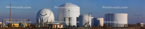 Smiley Face, Refinery, Oil Tank, Panorama, IPOD01_146