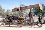 Taft, Pumpjack, also known as nodding donkeys, pumping units, horsehead pumps, beam pumps, sucker rod pumps (SRP), grasshopper pumps, thirsty birds and jack pumps, IPOV03P12_17