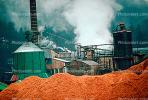 Sawdust Mound, Smoke, Air Pollution, soot, Pulp Mill, building, Port Angeles