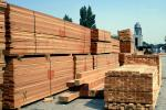 Stacks of Wood Slats at a Lumber Mill, ready for shipping, IWLV01P15_09B