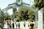 Sather Gate, Sproul Plaza, Landmark, arch, UC Berkeley, KECV03P04_08