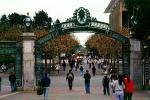 Sather Gate, Sproul Plaza, Landmark, students, walking, arch, UC Berkeley, UCB, KECV03P04_11