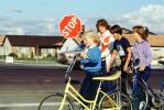 STOP, Crosswalk Safety, stingray bicycle