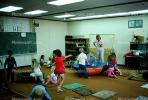 training, instruction, teachers, teaching, classroom, class room, exercising, trampoline, chalkboard, KEDV01P03_18