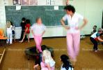 training, instruction, teachers, teaching, classroom, class room, exercising, trampoline, chalkboard, KEDV01P04_05