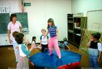 Trampoline, training, instruction, teachers, teaching, classroom, class room, exercising, girl, KEDV01P04_10