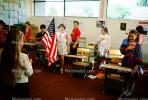 Pledge of Allegiance, classroom, Students, KEDV01P09_09