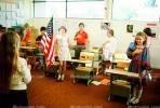 Pledge of Allegiance, classroom, Students, KEDV01P09_11