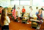 Pledge of Allegiance, classroom, Students, KEDV01P09_12