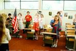 Pledge of Allegiance, classroom, Students, KEDV01P09_13