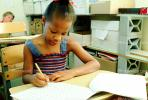 Girl, Desk, Classroom, writing, test, Student, KEDV01P13_10