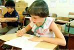 Girl, Desk, Classroom, writing, test, Student, KEDV01P13_17