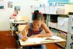 Girl, Desk, Classroom, writing, test, Student, KEDV01P14_03