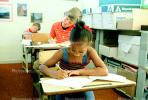 Girl, Desk, Classroom, writing, test, Student, KEDV01P14_04