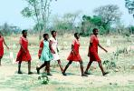 Schoolgirls, walking to school, uniform, Madzongwe, KEDV02P15_05