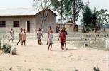 schoolyard, girls, buildings, Madzongwe