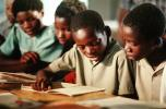 Students learning to Read, classroom, Madzongwe