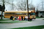 schoolchildren, students, School Bus Stop, Detroit, Michigan, KEDV03P13_01