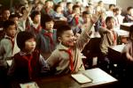 Hands Raised, Boys, Girls, Classroom, Schoolroom, China, 1973, 1970s