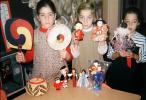 Ethnic, Spiral, Dolls, Girls, Dress, Female, 1960s