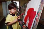 Boy Painting, Art Therapy, classroom, KEPV01P05_04