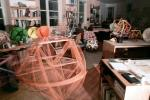 Isamu Noguchi Studios, preparing displays for Cooper Hewitt Museum Exhibit, Long Island City, KSFV01P02_01