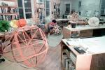 Isamu Noguchi Studios, preparing displays for Cooper Hewitt Museum Exhibit, Long Island City, KSFV01P02_10