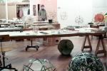 Great Circles, Isamu Noguchi Studios, preparing displays for Cooper Hewitt Museum Exhibit, Long Island City, KSFV01P02_15