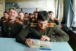 Russian Soldiers, Class, reading a book, Military Academy