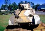 Sherman Tank, ww II, world war two, tracked vehicle, Camp Shelby, Mississippi, head-on, MYAV03P01_16